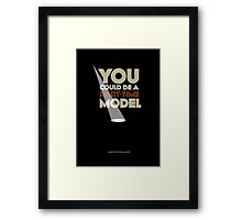 Part-time model   |   poster Framed Print