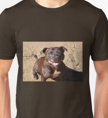 Happy Staffie Unisex T-Shirt