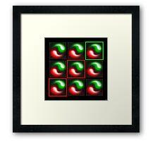 Zoom 9 (Red Light, Green Light) 2001 Framed Print