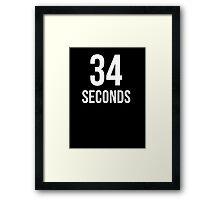 34 Seconds Framed Print