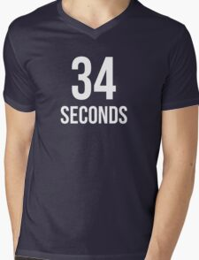 34 Seconds Mens V-Neck T-Shirt