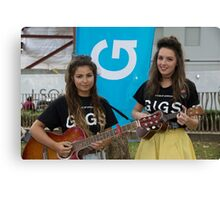 Leila Mcneelance and Lucy May Walker perform in Leicester Square during Buskin London Festival Canvas Print
