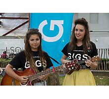 Leila Mcneelance and Lucy May Walker perform in Leicester Square during Buskin London Festival Photographic Print