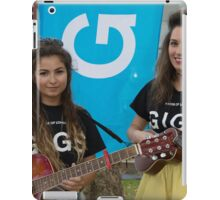 Leila Mcneelance and Lucy May Walker perform in Leicester Square during Buskin London Festival iPad Case/Skin