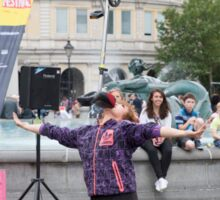 Witty Look perform in Trafalgar Square during the Buskin London Festival Sticker