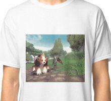 Batgirl and bear Classic T-Shirt