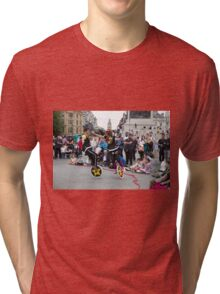 Witty Look perform in Trafalgar Square during the Buskin London Festival Tri-blend T-Shirt