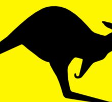 Kangaroos Yellow Diamond Warning Road Sign Sticker