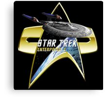 StarTrek Enterprise E Com badge Canvas Print