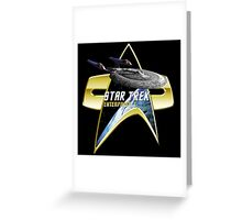 StarTrek Enterprise E Com badge Greeting Card