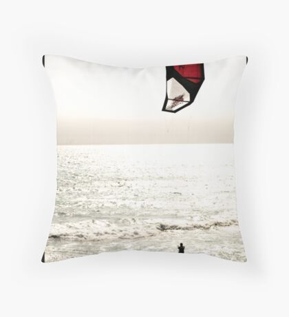 On Wind And Waves Throw Pillow