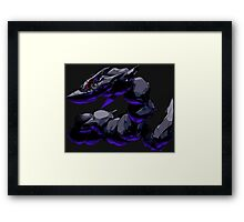 pokemon dark mega steelix anime manga shirt Framed Print