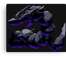 pokemon dark mega steelix anime manga shirt Canvas Print