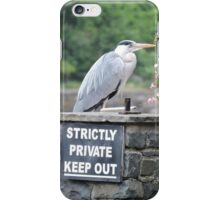 Herons Don't Read iPhone Case/Skin