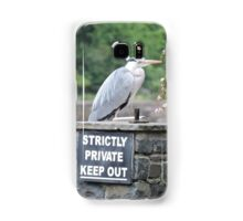 Herons Don't Read Samsung Galaxy Case/Skin