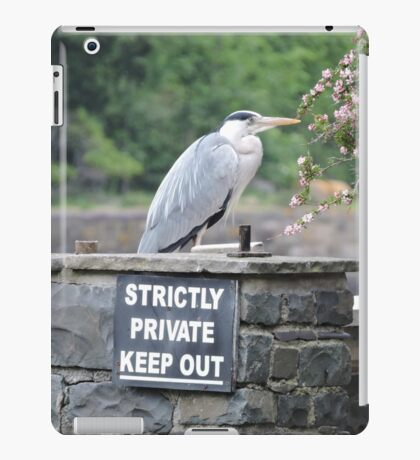Herons Don't Read iPad Case/Skin