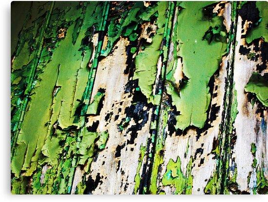 Green flaking paint by buttonpresser