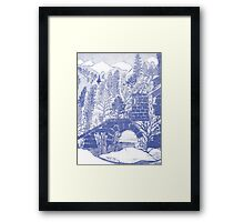 Alpine in Cyan Blue  Section by Heather Holland Framed Print