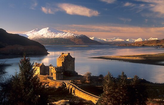 Eilean Donan Castle and the Isle of Skye, Winter. Highland Scotland. by photosecosse /barbara jones