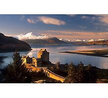 Eilean Donan Castle and the Isle of Skye, Winter. Highland Scotland. Photographic Print
