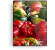 Fruits and Veggies Metal Print