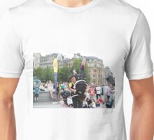 Witty Look perform in Trafalgar Square during the Buskin London Festival Unisex T-Shirt