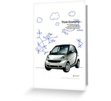 smart car ad Greeting Card