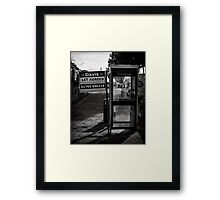 Location, location means everything Framed Print