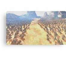 Beginning of the battle between the armies Canvas Print