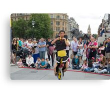 Witty Look perform in Trafalgar Square during the Buskin London Festival Canvas Print