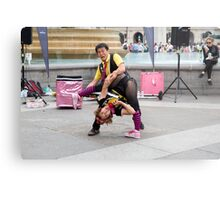 Witty Look perform in Trafalgar Square during the Buskin London Festival Metal Print