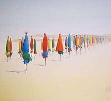 Deauville Beach Normandy by Heather Holland by Heatherian