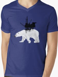 Save the Polar Bear Mens V-Neck T-Shirt