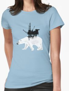 Save the Polar Bear Womens Fitted T-Shirt
