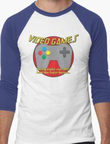 Video Game is better than English Teachers !! Men's Baseball ¾ T-Shirt