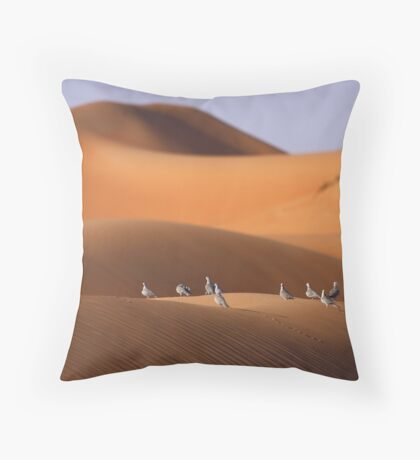 Doves on a Dune Throw Pillow