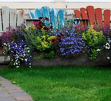 Front Porch Flowers by m E Grayson