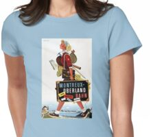 Switzerland Vintage Travel Poster Womens Fitted T-Shirt