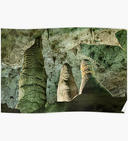Hall Of Giants - Carlsbad Caverns Poster