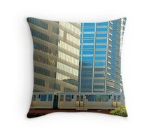 The Chicago EL  Throw Pillow
