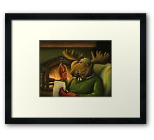 The Magnificient Mr. Mooseclaw Framed Print