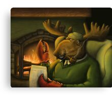 The Magnificient Mr. Mooseclaw Canvas Print