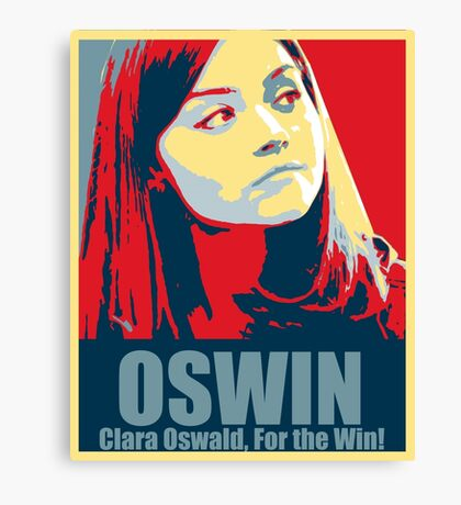 Clara For the Win! Canvas Print