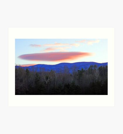 CLOUD,SUNSET Art Print