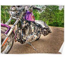 Purple Harley Poster