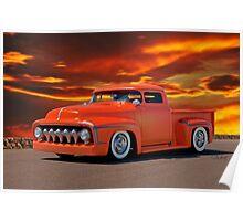 1956 Ford Custom Pickup Poster