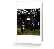 red marley uphill task Greeting Card