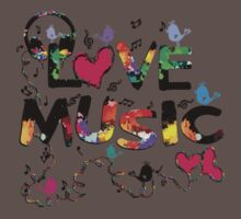 LOVE MUSIC One Piece - Short Sleeve