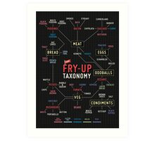 Fry up taxonomy Art Print