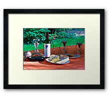 Opus One and Cheese Framed Print